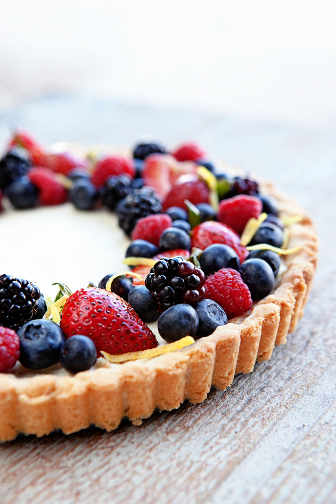 Lemon Berry Mascarpone Tart 1