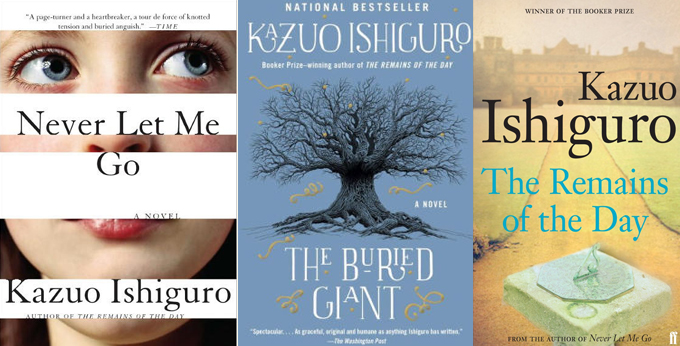 Kazuo Ishiguro Book Covers