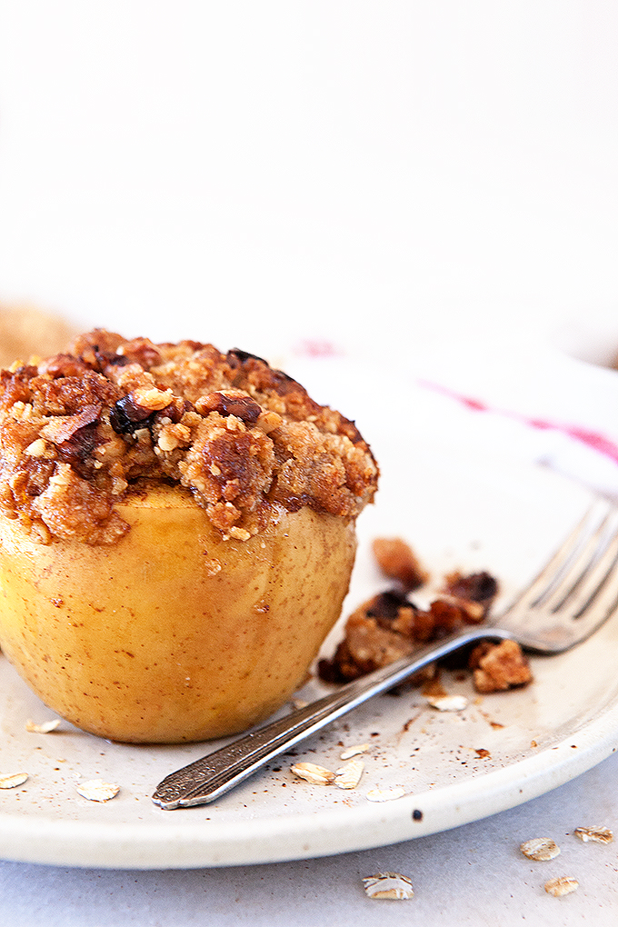 Pumpkin Pie Baked Apples without Ice Cream