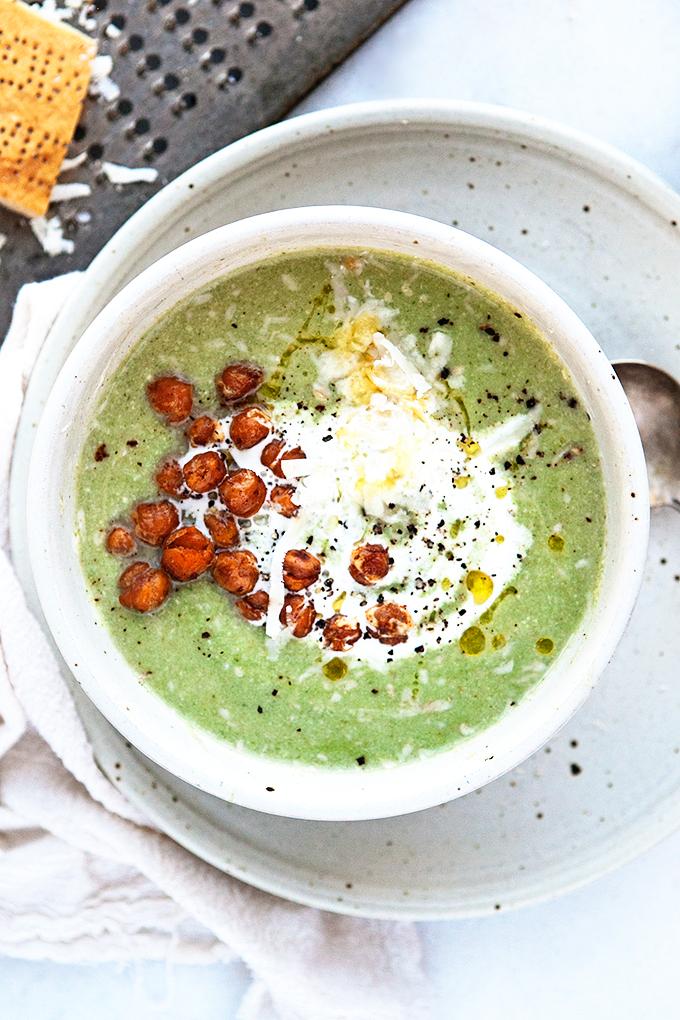 Cauliflower Spinach Soup (Vegan)
