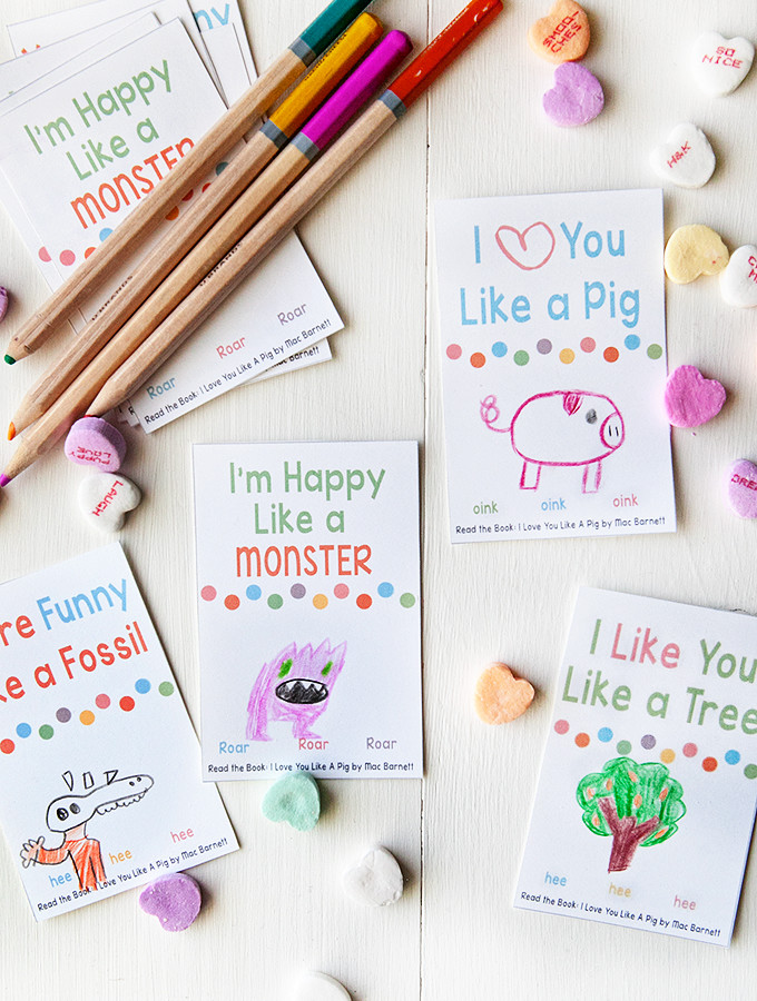 Printable Valentines to Color for Kids