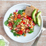 Fresh Corn Salad with Jalapeno Lime Dressing