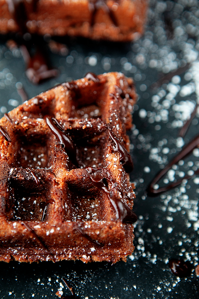 Waffle Brownies from Scratch