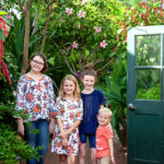 Four Kids posing together at Biltmore Gardens Conservatory
