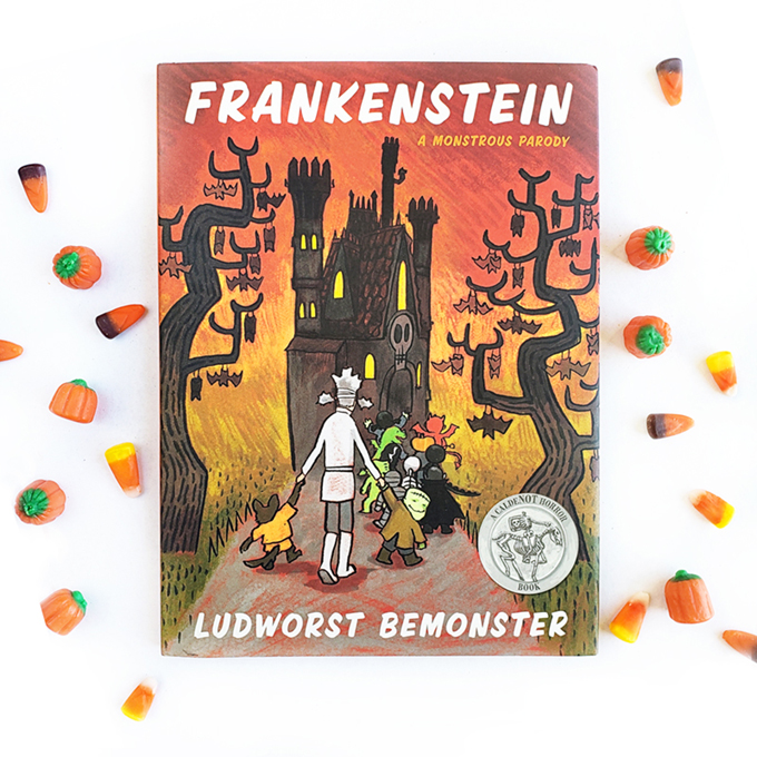 Frankenstein a monstrous parody book cover image with candy