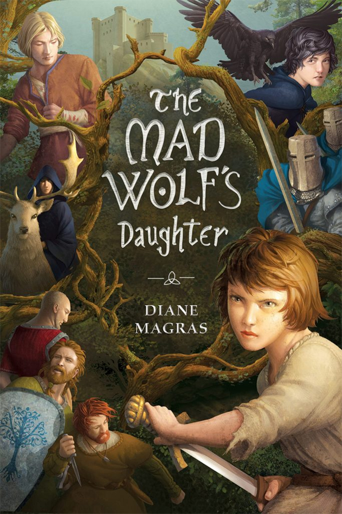 Cover image of the book the mad wolf's daughter new middle grade books