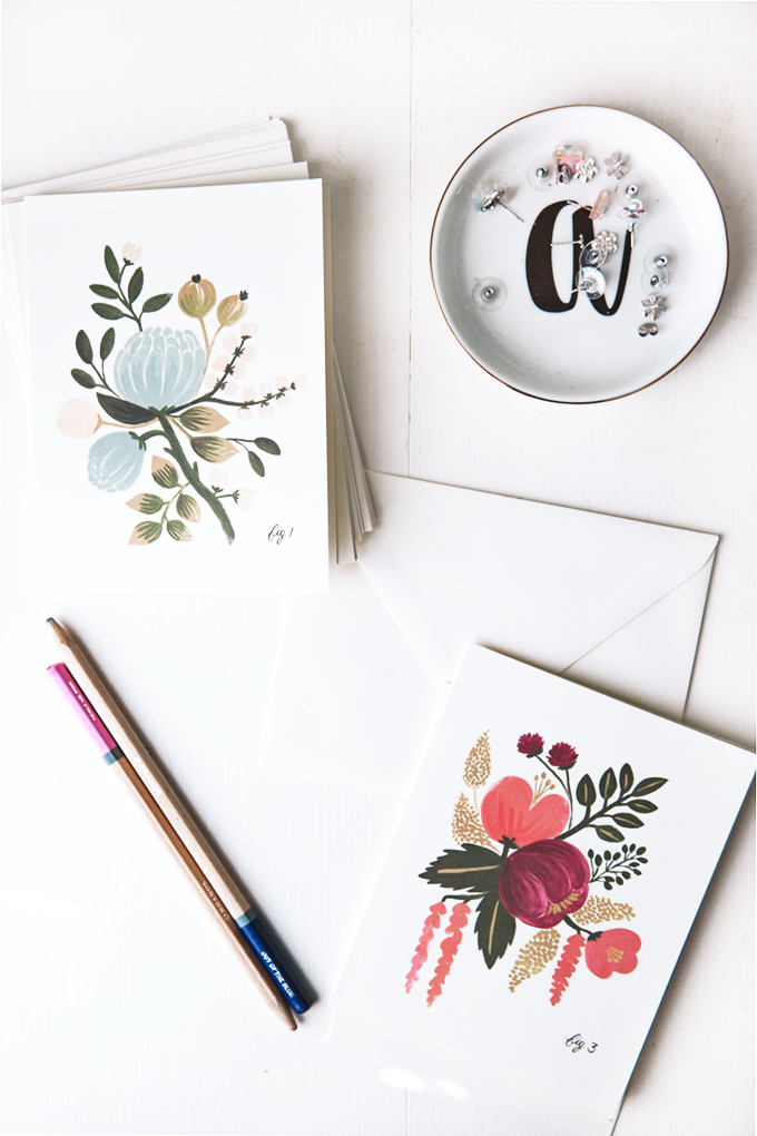 19 for 2019 Photo of floral note cards from rifle paper co