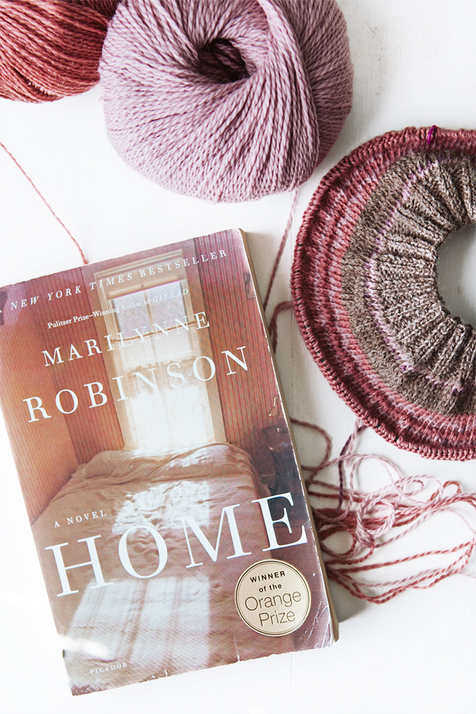 19 for 2019 Shot of a book, yarn and knitting