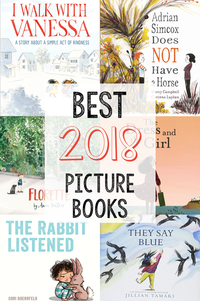 Collage of book covers for the best children's picture books of 2018
