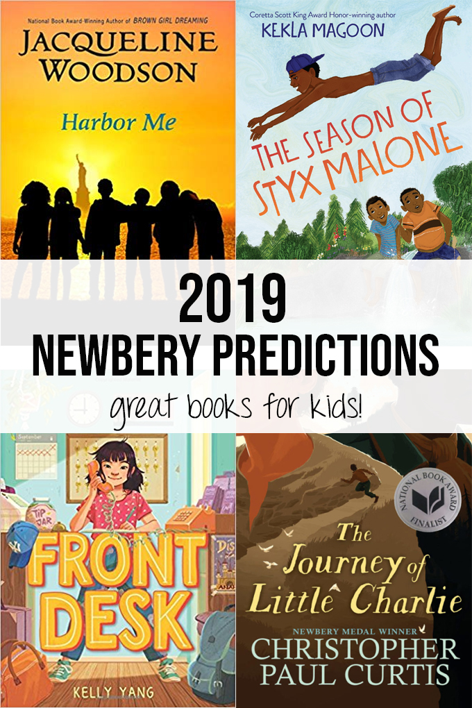 Book cover collage for 2019 Caldecott and Newbery Predictions