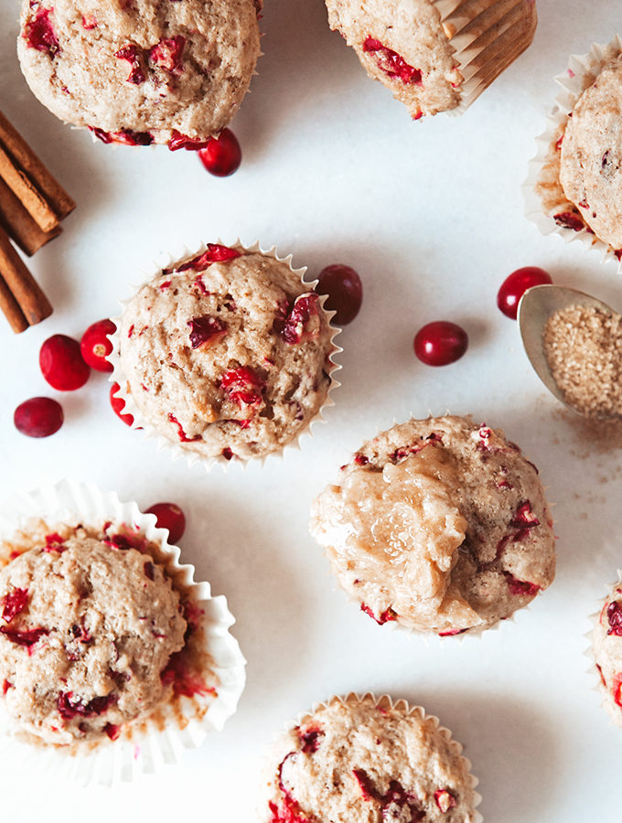 Spiced Cranberry Muffins and Cinnamon Honey Butter