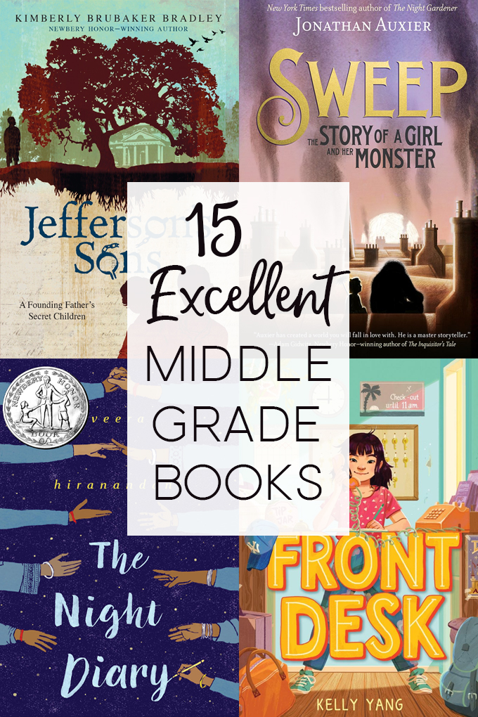 Book covers of middle grade books for middle grade march