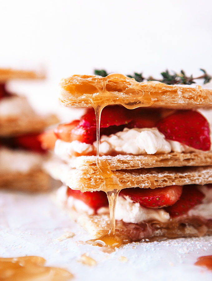 Strawberry Napoleons with Whipped Meyer Lemon Cream