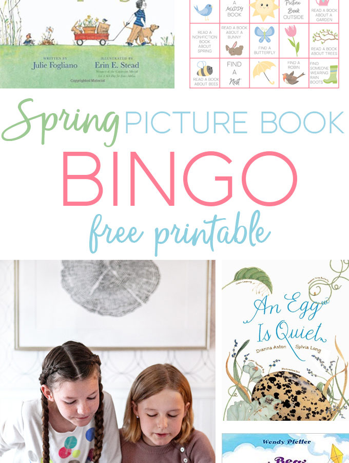 Spring Picture Book Bingo
