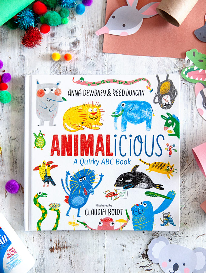 Animalicious: A Quirky ABC Book and Easy Animal Craft