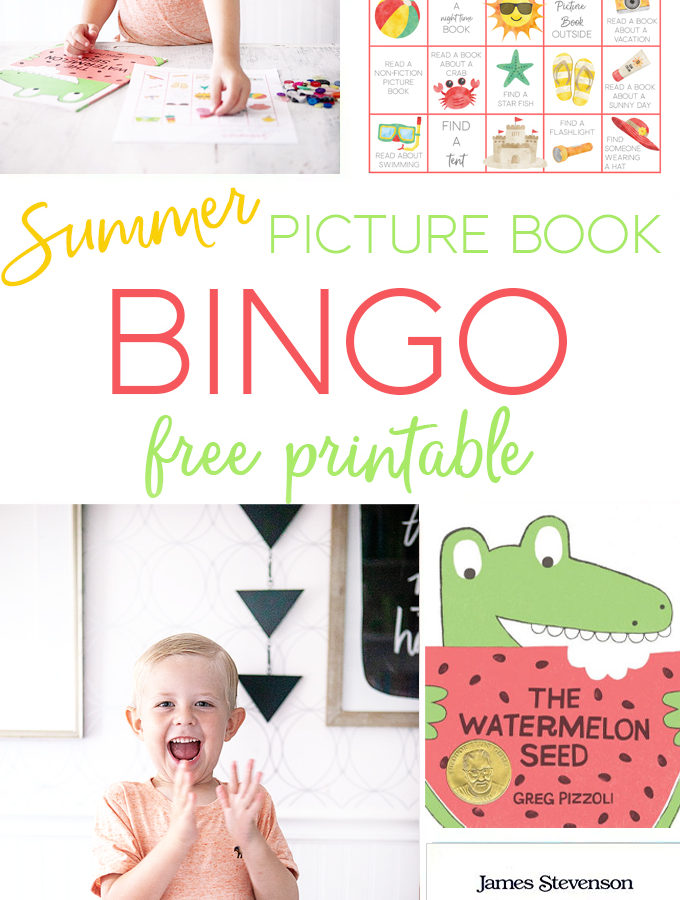 Summer Picture Book Bingo