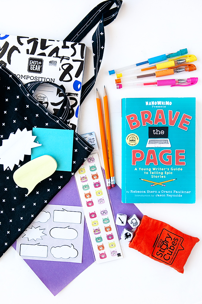 Brave the Page Book with a Creative Writing Kit
