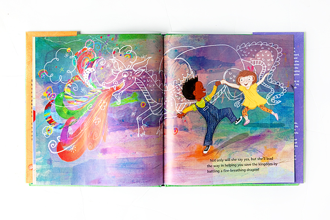 Illustrations from the King of Kindergarten book
