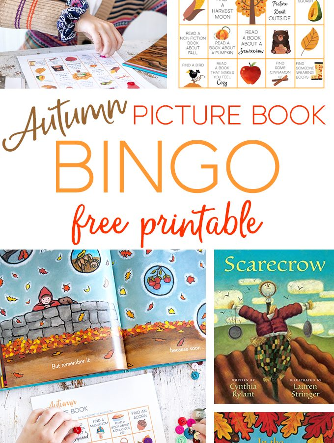 Autumn Picture Book Bingo : Free Printable