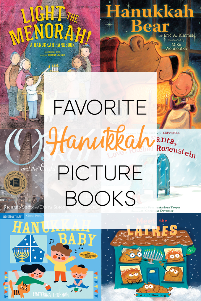 a collage of 6 Hanukkah Picture Books
