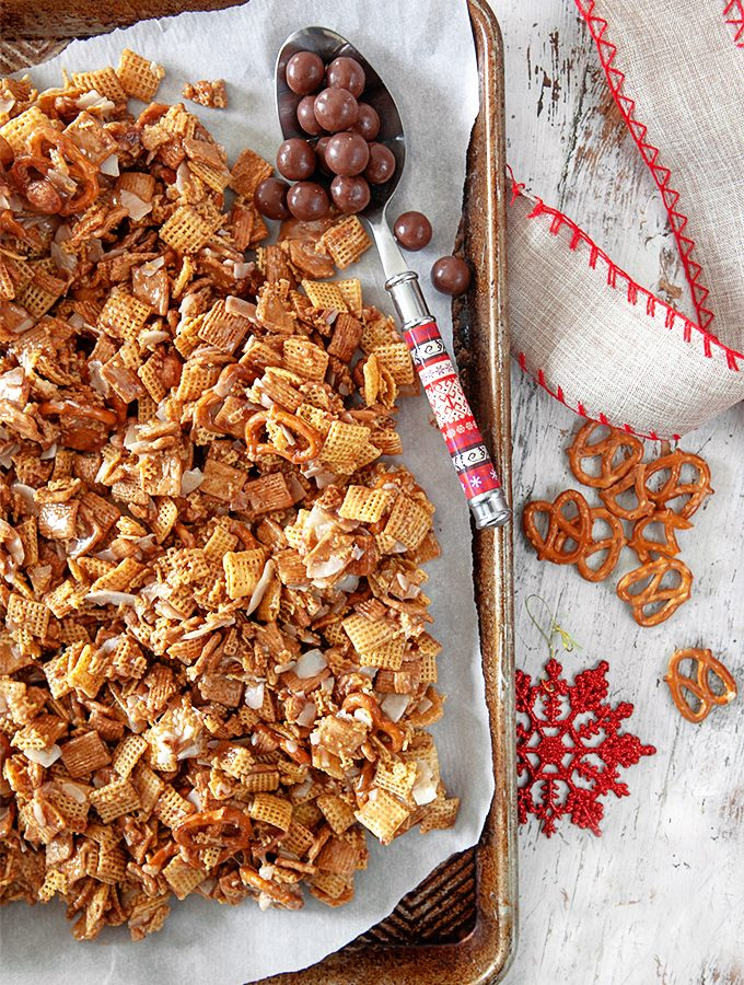 Malted Golden Graham Chex Mix
