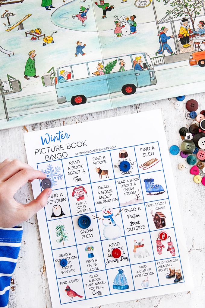 Winter Picture Book Bingo Cards
