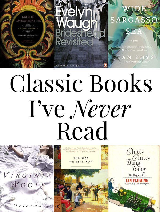Six Classic Books I've Never Read