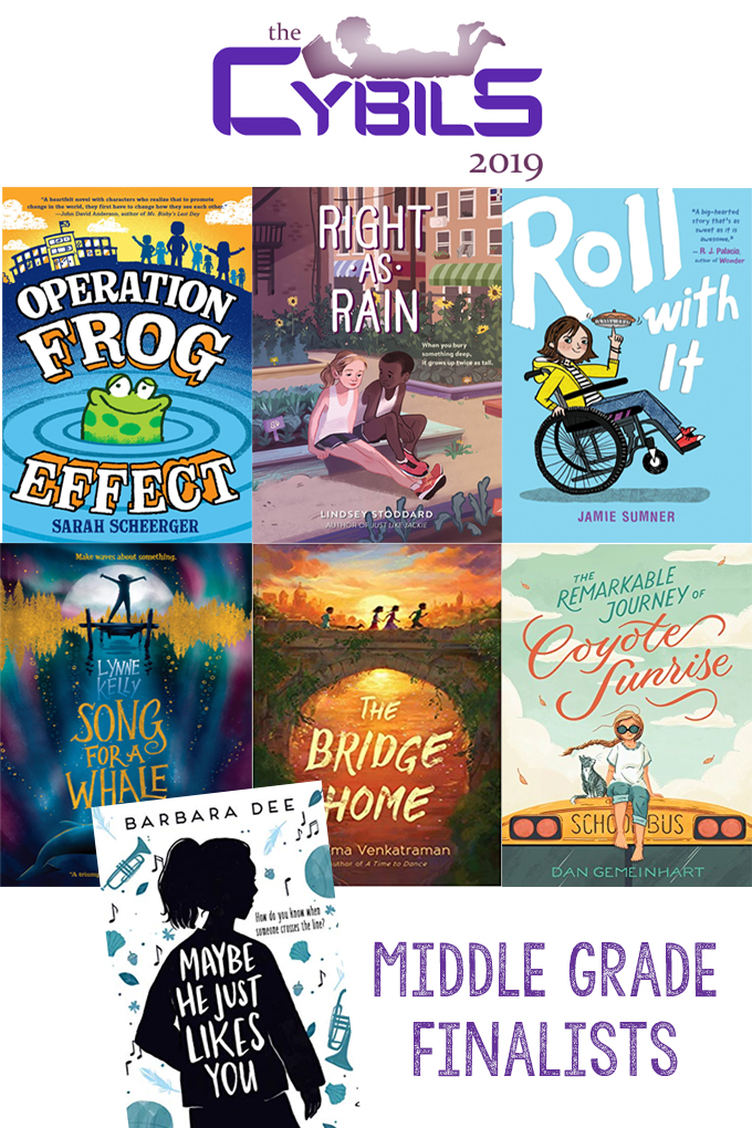 a collage of book covers for the cybils awards
