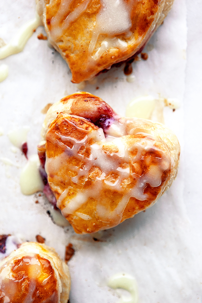 Stuffed Puff Pastry Donut Hearts