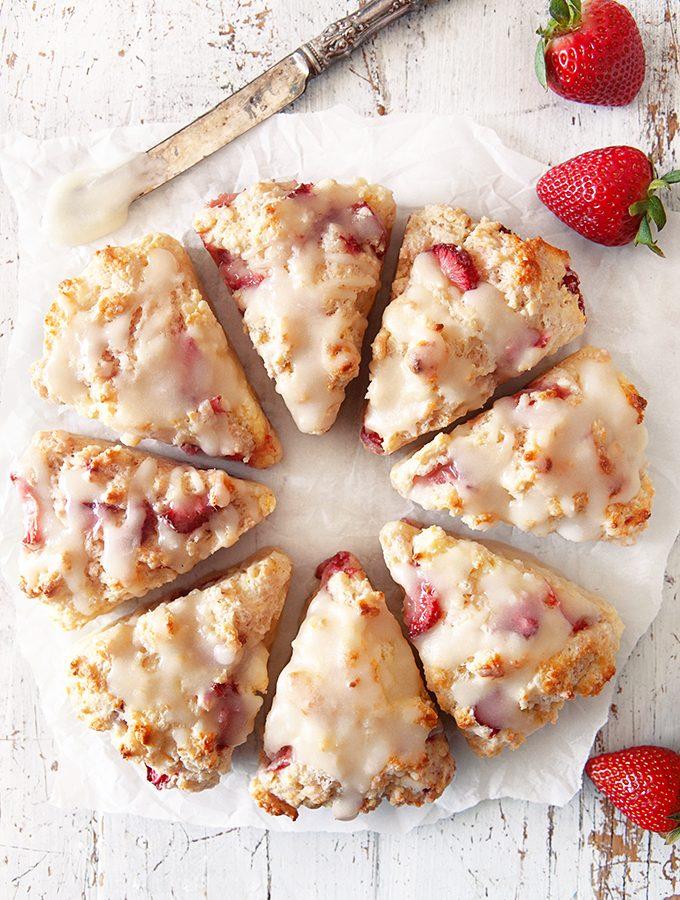 Strawberry Scones with Fresh Strawberries