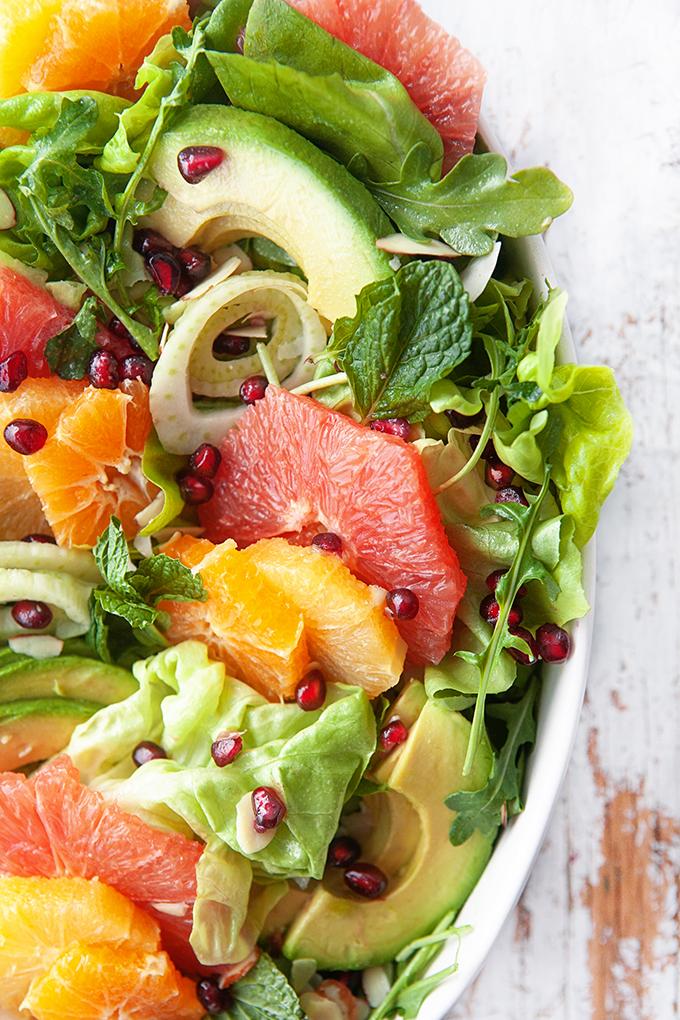 Ingredients in a citrus salad